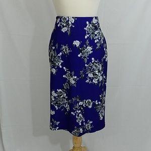 Stretch skirt, purple, gray 1x-2x